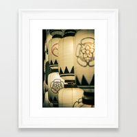 Japanese Festival Laterns in Gion, Kyoto II Framed Art Print