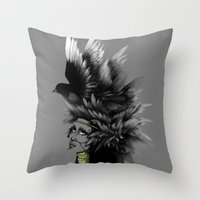 The Feather Queen Throw Pillow