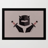 Exile From Ullathorpe - Helmet and Swords Dark Art Print