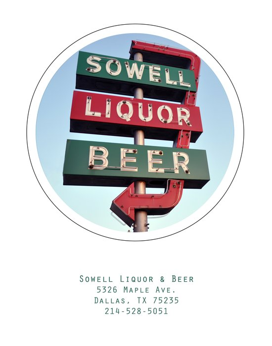 Sowell Beer and Liquor Poster Art Print