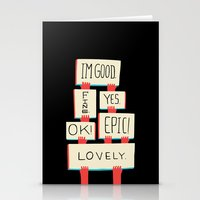 Im Good. Fine. Yes. OK! … Stationery Cards