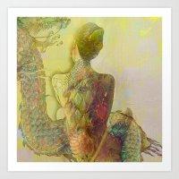 The Guard Of The Eternal… Art Print