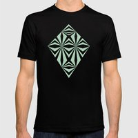 Mint Starburst #3 Mens Fitted Tee Black SMALL