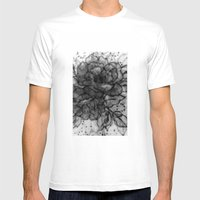Spinning Roses Mens Fitted Tee White SMALL