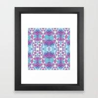Purple Mint Framed Art Print