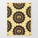 Peace Mandala Pattern Print Canvas Print
