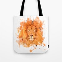 Splatter Lion Tote Bag