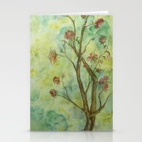 Branch With Flowers Stationery Cards