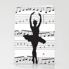 ballerina art, music Notes , girls nursery art, ballerina décor , girls nursery art , Stationery Cards