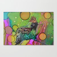 Tufted Coquette Bird Canvas Print