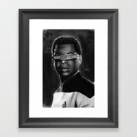 Geordi Framed Art Print