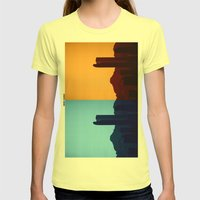 Denver, Colorado Womens Fitted Tee Lemon SMALL