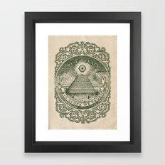 In Block We Trust (Green) Framed Art Print