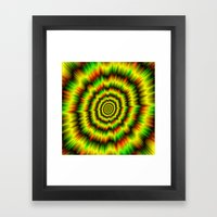 Colour Explosion in Yellow Green and Red Framed Art Print