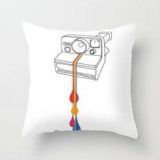 Polaroid Drips Throw Pillow