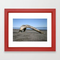 Drift Arch Framed Art Print