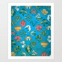 Ocean Tropic Art Print