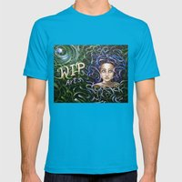 Debbi Thompson - WIP Arts Mens Fitted Tee Teal SMALL