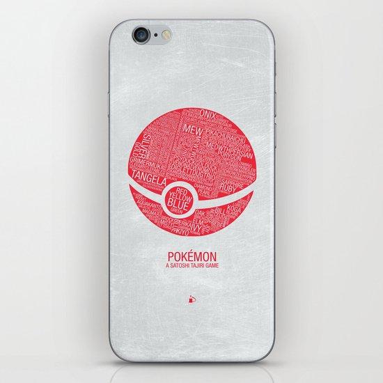 Pokemon Typography iPhone & iPod Skin