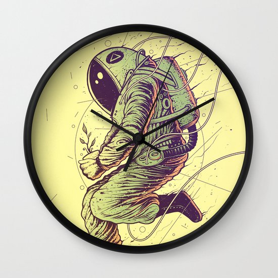 Green Mission Wall Clock