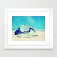 Gone Diving ....  Framed Art Print