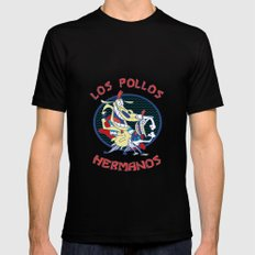 Los pollos hermanos SMALL Black Mens Fitted Tee