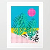 Mondo - 80's Retro Throw… Art Print