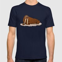 Pacific Walrus Mens Fitted Tee Navy SMALL