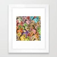 Squirrels Parade Framed Art Print