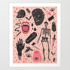 Whole Lotta Horror Art Print