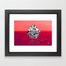 Orb in sea Framed Art Print