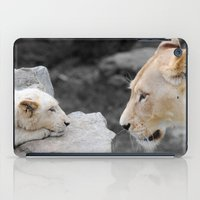 A Mothers Love . . . White Lion Mother and her Cub    iPad Case