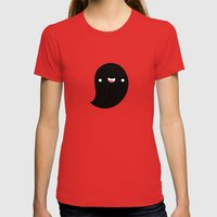Space Ghost Womens Fitted Tee Red SMALL