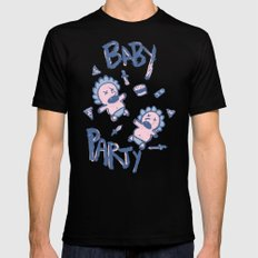 Baby Party Mens Fitted Tee SMALL Black
