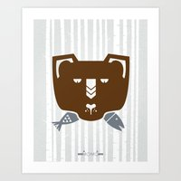 The Fish & Mr. Bear Art Print