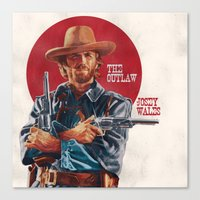 The Outlaw Josey Wales Canvas Print