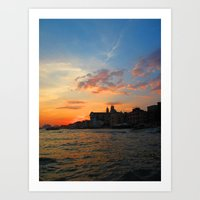 Sunset On The Grand Cana… Art Print
