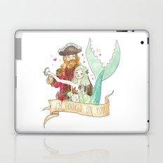 Valentine Mermaid and Pirate Laptop & iPad Skin