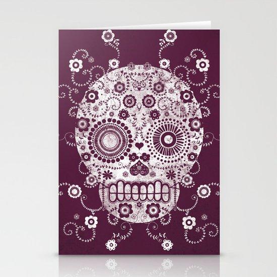 Sugar Skull Stationery Card