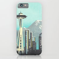 iPhone & iPod Case featuring Seattle Space Needle by Jenny Tiffany
