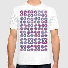 Broken Geometry 4 Mens Fitted Tee White SMALL