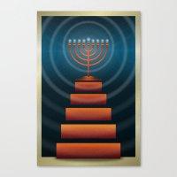 Art Deco Hanukkah Menorah Canvas Print