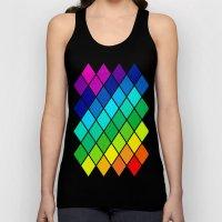 Tetrahedral Rainbow Unisex Tank Top