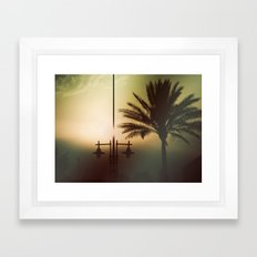 Mysterious sunset Framed Art Print