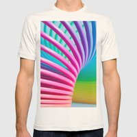 Rainbow Spring 3 Mens Fitted Tee Natural SMALL