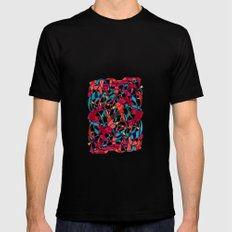 - dance - Mens Fitted Tee Black SMALL