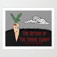 The Zombie Carrot Art Print