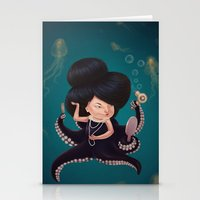 Octo Girl Stationery Cards