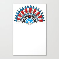 Tribal Patriot Canvas Print