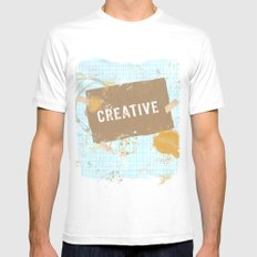 creative Mens Fitted Tee White SMALL